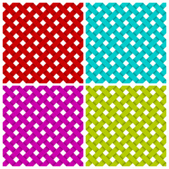 4 colored diagonal lines seamless pattern. Vector illustration.