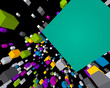 Fly colorful 3d cubes background