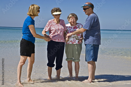 Seniors Enjoying the Beach