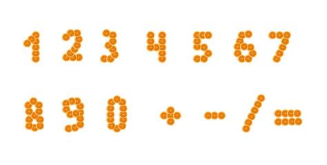 Набор чисел долька апельсина