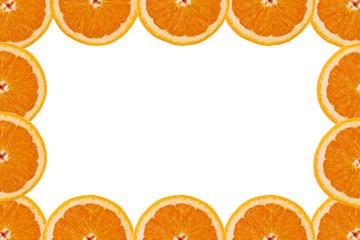 дольки апельсина рамка