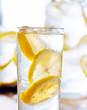 glasses of lemonade closeup