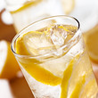 glasses of lemonade closeup