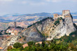 View of the Fortress of San Leo and town of the Marche regions