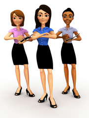 3D business women