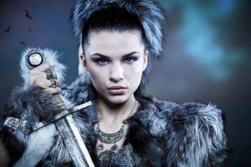 Warrior woman. Fantasy fashion idea.