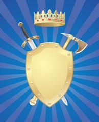 Shield Sword Axe Crown
