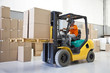 canvas print picture - Forklift