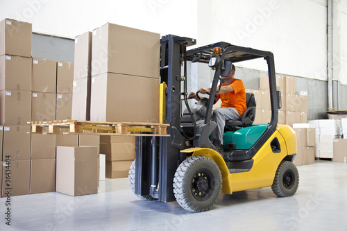 canvas print picture Forklift