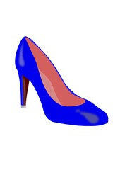 Grafik High Heels blau