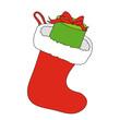 Nikolausfest mit Geschenk im Stiefel