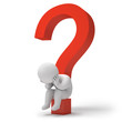 3d render question marks