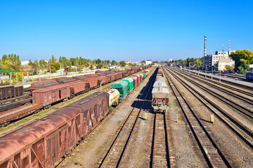 rails and waggons