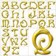 abc alphabet background nouveau design