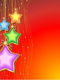 Natale Sfondo di Stelle Colorate-Christmas Stars Background-3