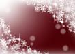 weihnachtlicher Hintergrund - Schnee rot