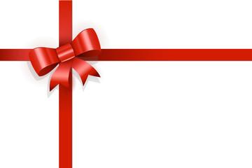 Rote Schleife Geschenk Gutschein