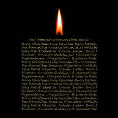 Christmas Cards candle in many languages