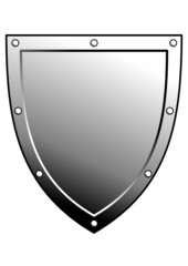 Vector metal heraldic shield. Armorial symbol