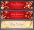 Winter theme web banners.
