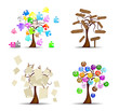 Original set of trees, vector