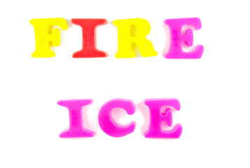 fire and ice written in fridge magnets