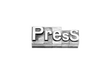bottone press caratteri tipografici