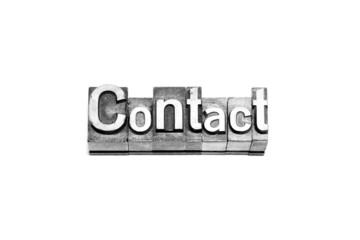 bottone contact caratteri tipografici