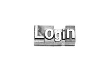 bottone login caratteri tipografici