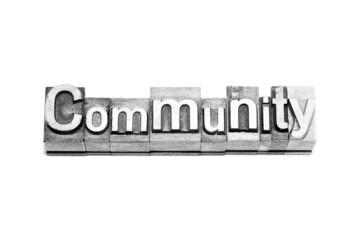 bottone community caratteri tipografici