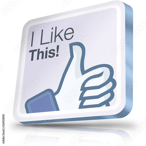 Facebook i like button