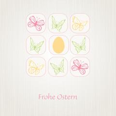 Karte Ostern / Frühling