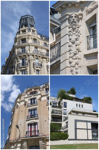 Postcard Paris - Buildings