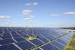 Reinigung von Modulen in einem Solarpark