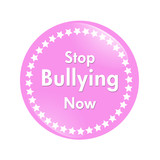 Stop Bullying Now button poster