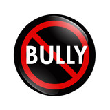 No Bully button poster