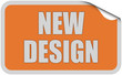 Sticker orange eckig curl oben NEW DESIGN