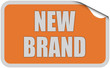 Sticker orange curl oben NEW BRAND