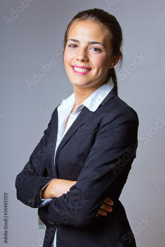 portrait of friendly businesswoman