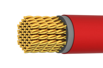 Golden Electrical Shiny Cable