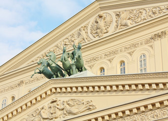 bronze quadriga of the Bolshoi Theatre by Peter Klodt