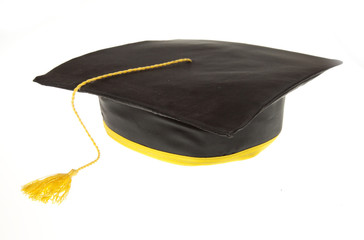 black student graduation hat