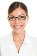 Glasses woman wearing pharmacist eyewear