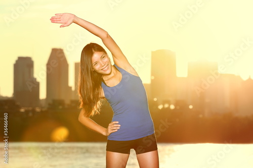 City runner exercise