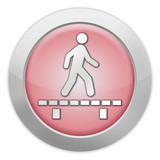 "Light Colored Icon (Red) ""Walk On Boardwalk"""
