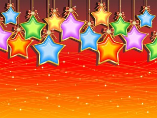 Natale Sfondo di Stelle Colorate-Christmas Stars Background-2