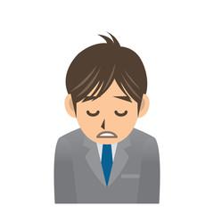 ビジネスマン A 風邪 疲労