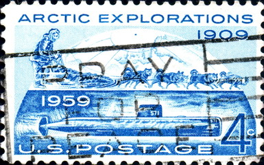 Arctic Explorations 1909. 1959. US Postage.
