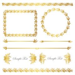 gold line and frame set