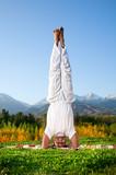 Yoga head standing